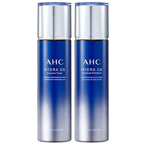 A.H.C Hydra G6 Essence Toner 130ml And Moisture Emulsion 130ml Set- Moisturizing Whitening And Anti-Speckle Brightening The skin