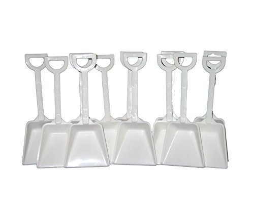Small White Plastic Toy Shovels Wholesale Lot, 7'' Tall, Pack 500 by Jean's Plastics (Image #2)