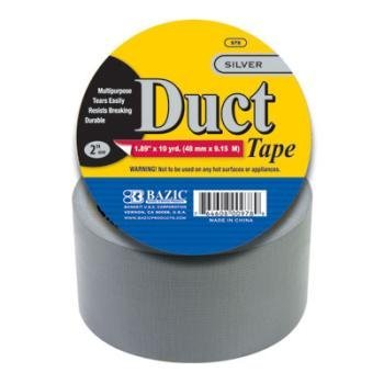 BAZIC 1.88 X 10 Yards Silver Duct Tape by Bazic