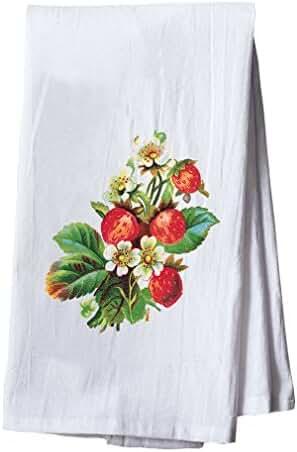 Strawberry Style 2 Dish Flour Sack Kitchen Towel