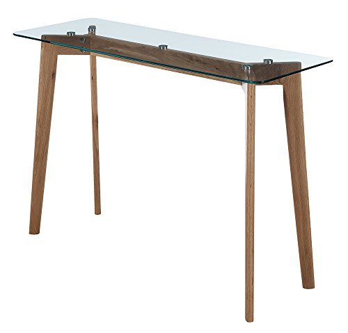 Convenience Concepts Clearview Console Table, Natural / Glass by Convenience Concepts (Image #3)