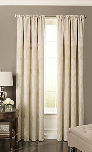 Cheap Beautyrest 15779052095IVY Odette 52-inch by 95-Inch Blackout Single Window Curtain Panel, Ivory