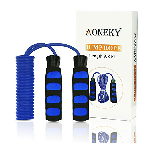 Aoneky Kids Bearing Jump Rope with Comfort Handles, Light Sk