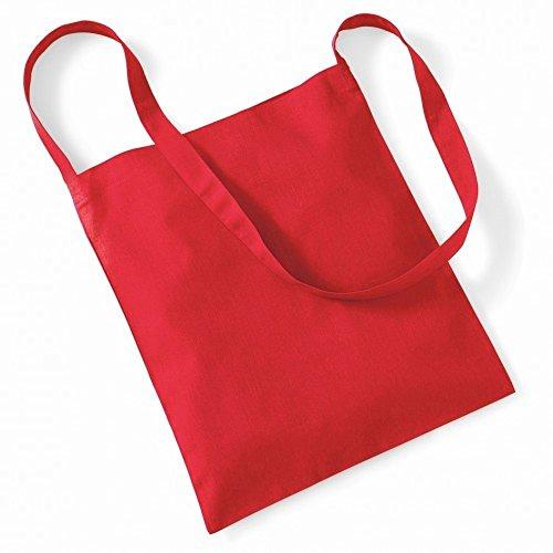 Westford Mill- Bolsa de mano con tira- capacidad 8 litros Rojo brillante