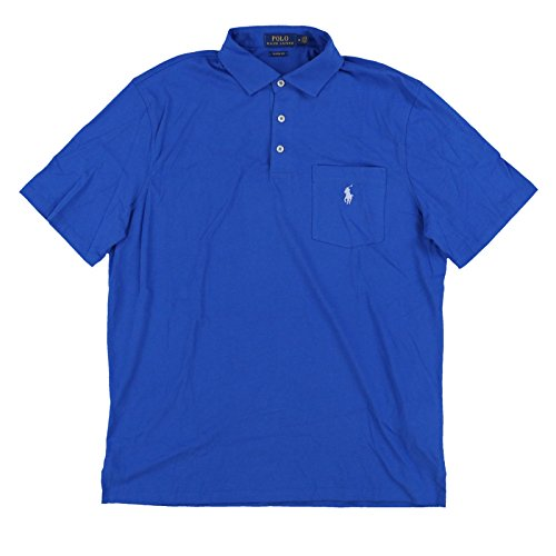 (Polo Ralph Lauren Mens Interlock Pocket Polo Shirt (Medium, Blue))