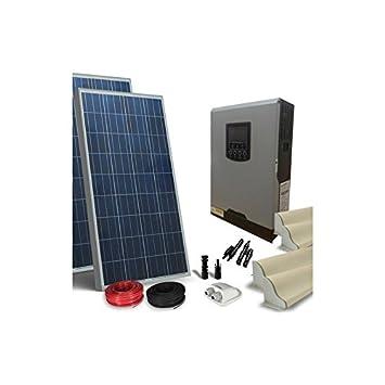 Solar Kit Wohnmobil 260W LUX Solarpanel Wechselrichter 800W 12V ...