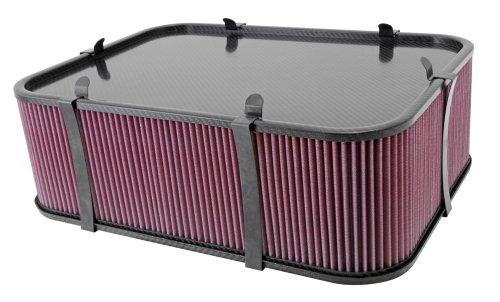 K & N KN100 - 8563 Carbon Fiber Air Box Large: