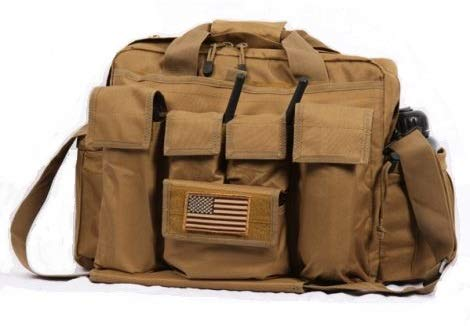 LA Police Gear Jumbo Bail Out Bag -Diaper Bag, Bug Out, Briefcase-Coyote