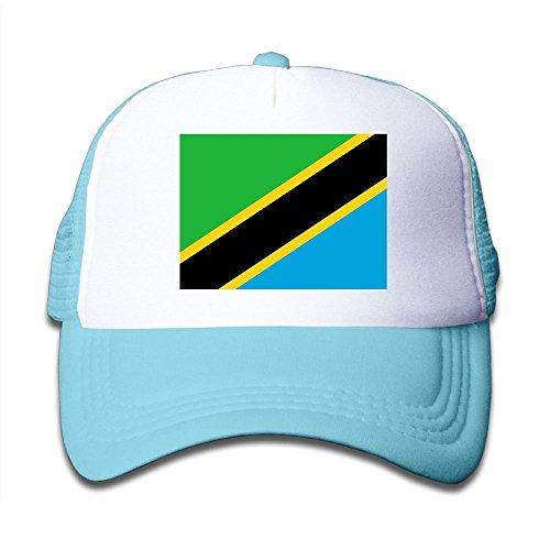 Futong Huaxia Flag Of Tanzania Boy & Girl Grid Baseball Caps Adjustable sunshade Hat For Children get discount