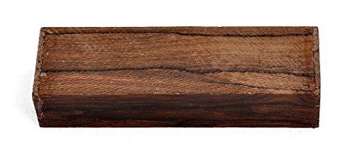 "Texas Knifemakers Supply Ziricote Wood Knife Handle Block (Each Piece is Unique) 5"" x 1-1/2"" x 1"""