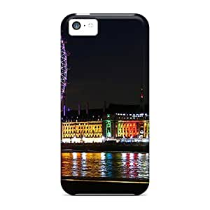 GoldenArea Case Cover Protector Specially Made For Iphone 5c Night Lights