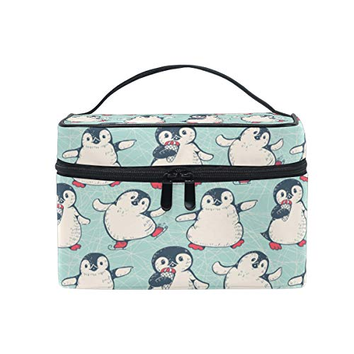 Travel Cosmetic Bag Cute Penguin Toiletry Makeup Bag Pouch Tote Case Organizer Storage For Women Girls
