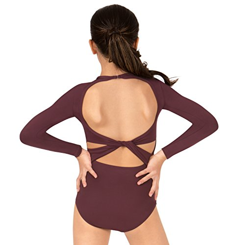 Bal Togs Leotards (Girls Twist Back Long Sleeve Leotard,BT5177CBLKYJ,Black,YJ)