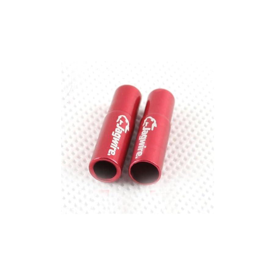 CNC Aluminum Alloy Jagwire Cable Housing End Caps Lined Ferrules 4pcs 5 Colors