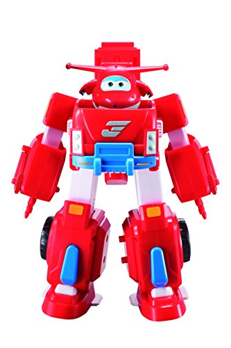 Super Wings - Robo Rig | Toy Vehicle Set |, Includes Transform-a-Bot Jett Figure | 2'' Scale by Super Wings - (Image #1)