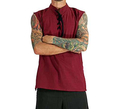 Appler Men's ROGUE SHIRT Renaissance Clothing, Medieval Clothing, Green Pirate Shirt, Steampunk Costume, Pirate Costume, Viking (Steampunk Clothing Men)