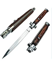 Boar Ridge Wooden Handle Folding Pocket Knife for Outdoor Camping Hunting Hiking Fishing Tools