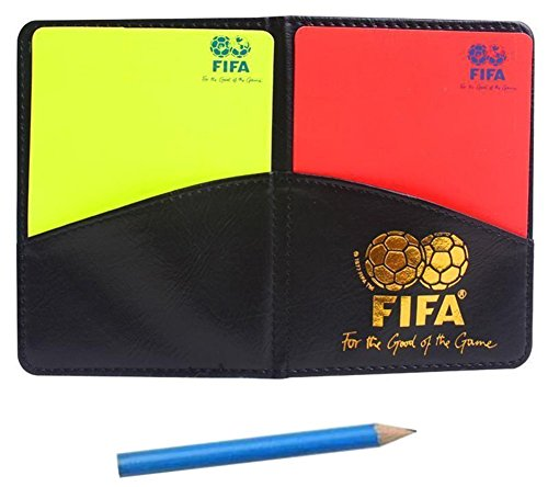 (MiaoDuo New Sport Football Soccer Referee Wallet Notebook with Red Card and Yellow Card)