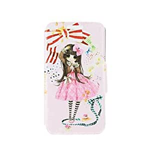 SHOUJIKE Kinston Girls Bow Pattern PU Leather Full Body Case with Stand for Samsung Galaxy Note 4
