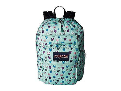JanSport Big Student Backpack -Brook Green Cool Cats