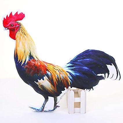 PANGDUDU Simulación Pollito Juguete De Peluche Mascota Impresión Almohada Gran Polla/Gallina Muñeca Niño Juguete