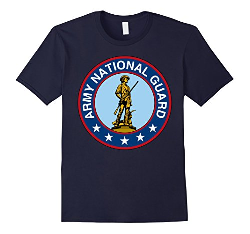 Men's Army National Guard Always Ready Always There T-Shirt Large Navy