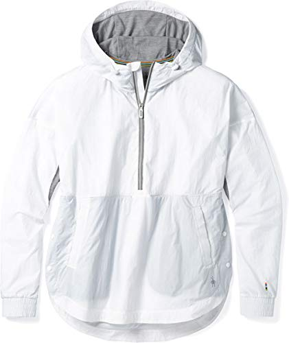 SmartWool Women's Merino Sport Ultra Light Anorak Pullover White ()