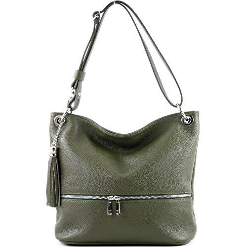 Gelboliv de sac épaule sac modamoda cuir ital T143 dames cuir d'épaule sac en en O6WqSBFd
