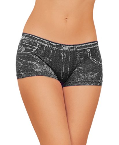 Sexy Booty Denim Design Seamless Chic Hot Low Rise Short Shorts (Booty Shorts Sexy)