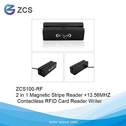 Pcsc Smart Card Reader (ZCS100-RF 2-in-1 Magstripe reader + RFID NFC contactless card reader writer)
