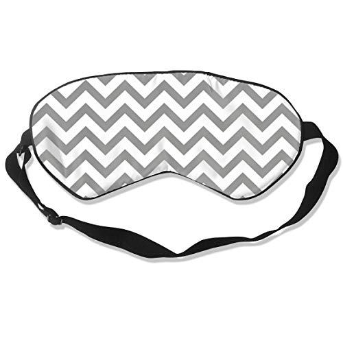 Gray Stripes Eye Mask Sleeping Mask 100% Double-Sided Silk Eyeshade Eye - Happiness Stripes Gray