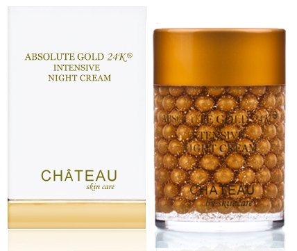 Botanical Beauty Absolute Gold 24 Karat Intensive Night Cream, Silk Peptides and Hyaluronic Acid, 2 fl. oz. / 60ml (Fragrance Free, Cruelty Free, Paraben Free, Petroleum Free)