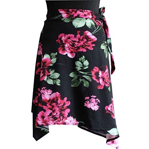 YOUMU Women Latin Salsa Tango Dance Skirt Dress Skate Wrap Scarf Dancewear Swing Rumba ChaCha Ballroom Costume ()
