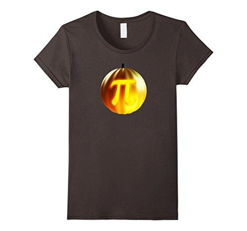 Womens Punny Geeky Halloween T Shirt - Pumpkin Pi Pun Costume Tee Small Asphalt for $<!--$16.98-->