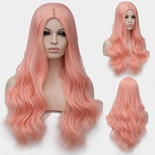 Similar Cosplay Long Wavy Full Synthetic Wigs Fluffy Hair Wig with Cap Halloween Gift,16,28inches ()