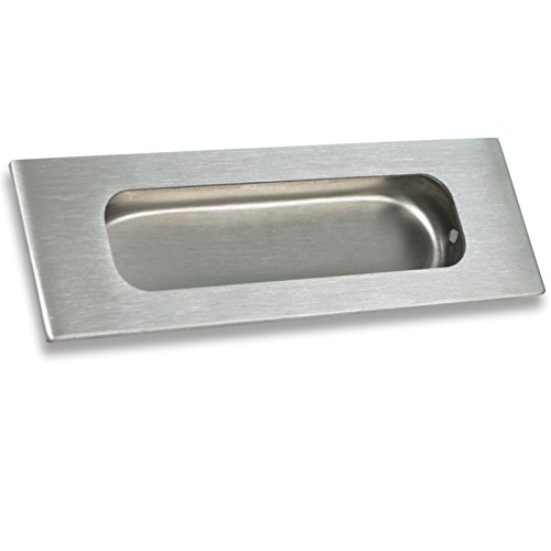 Rectangular Finger Pull (1 pack Rectangular Flat Plate Flush Recessed Sliding Pocket Door Handles 4-3/4in)