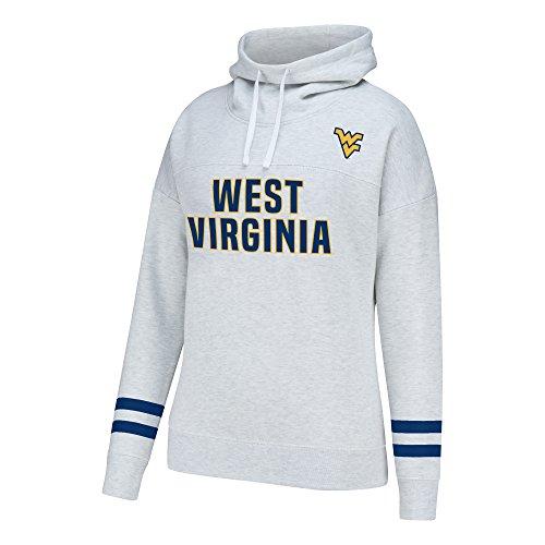 NCAA West Virginia Mountaineers Women's School Spirit Front Row Cowl Neck Fleece, X-Large, Light Heather (Virginia Light West)