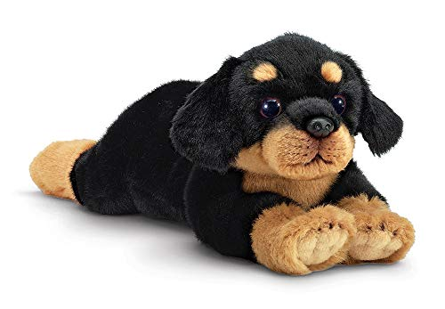 Bearington Gunner Rottweiler Plush Stuffed Animal Puppy Dog, 15 inches -