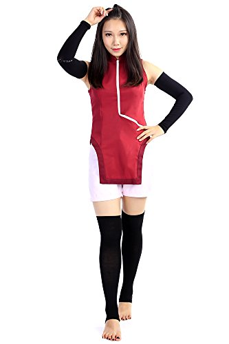 Movie Quality Costumes Uk (SDWKIT Boruto: Naruto the Movie Cospaly Costume Uchiha Sarada Outfit Set V1)