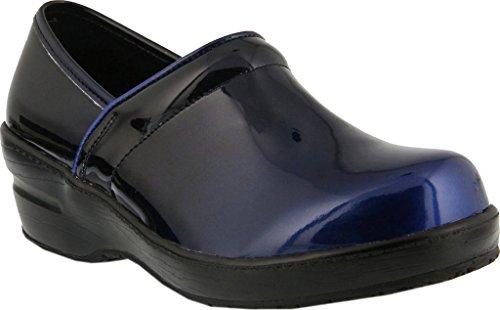 Fjær Trinnet Faglig Dame Neppie Arbeid Skoen Blå Ombre Syntetisk Patent