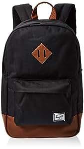 Herschel Unisex-Adult Heritage Mid-Volume Backpack, Black Synthetic - 10019