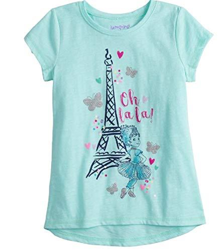 (Fancy Nancy Eiffel Tower T Shirt Glitter Oh Paris Tee (6) Mint Green)
