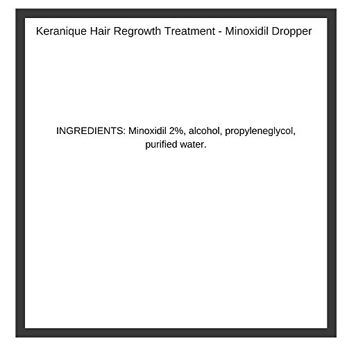 Keranique Hair Regrowth Treatment Dropper – 2% Minoxidil, 2 Fl Oz 30 Day Supply – Regrow Thicker-Looking Hair, Helps Revitalize Hair Follicles by Keranique (Image #1)