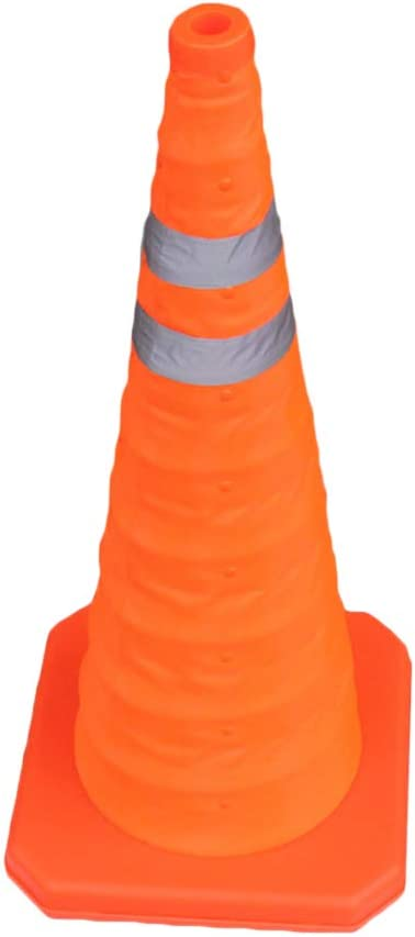 Uokoki 70cm Collapsible Traffic Cone Road Multi Purpose Folding Pop Up Parking Reflective Safety Cone