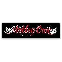 "Motley Crue Car Bumper Sticker Decal 8"" X 2"""