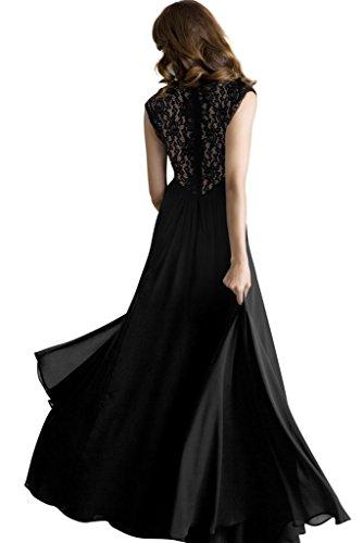 Robe Dentelle Sexy Robes Elégant Longue Bigood Femme Transparent Noir De Cérémonie Dos Cocktail NnwXZP0k8O