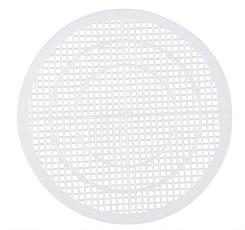 Awebuy Shower Filter Drain Protector Hair Catcher Bath Tub Hair Stopper for Multiple Drain Sizes per Pack, Two Finger Pins Keep Shower Filter in Place, Made in Japan - Promo Code Q B And