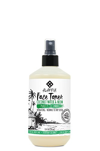 Dry Skin Normal Skin Toner - Alaffia - Purely Coconut Face Toner, Normal to Dry Skin, Refreshing Help to Hydrate and Balance Skin with Neem, Papaya, and Lavender Oil, Fair Trade, Coconut Water and Neem, 12 Ounces (FFP)