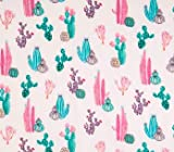 Fitted Crib Sheet in Pink and Green Cactus by Twig + Bird - Handmade in America