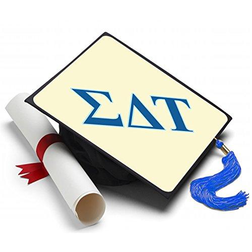 Sorority Big Little Reveal Costumes (Sigma Delta Tau Graduation Cap Hat Topper Decoration Sorority)